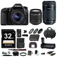 Canon EOS 80D DSLR Camera with 18-55mm