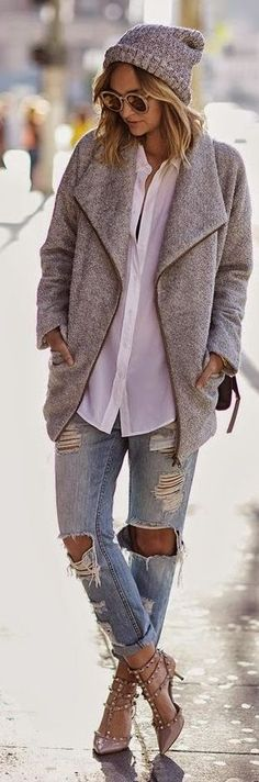 Grey Woolen Jacket
