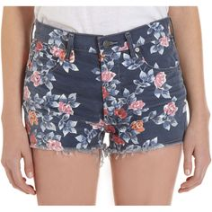 Floral frayed shorts costing $172