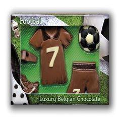 Milk Chocolate Football Kit £7.99 FREE UK Delivery.  http://www.ragstorichesuk.com/gifts/confectionery/milk-chocolate-football-kit-detail