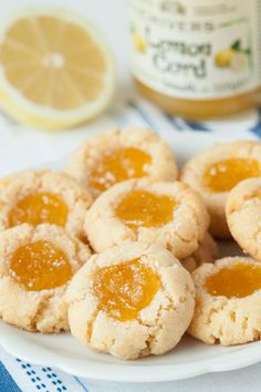 Gluten free lemon thumbprint cookies. I used a combination of almond and coconut flours to create a soft and chewy texture that rivals any all-purpose flour cookie.