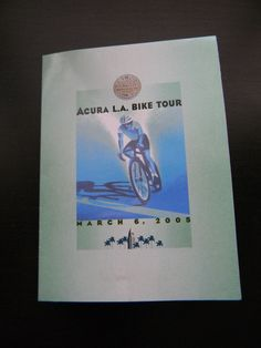 Acura L.A. Bike Tour LOS ANGELES MARATHON Pinback Tack Pin March 6 2005 P3