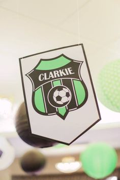 Clarkie's Soccer Themed Party – Ceiling Football Themes, Party Themes, Soccer, Ceiling, Birthday, Futbol, Ceilings, Birthdays, European Football