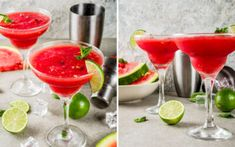 Watermelon Margaritas - with REAL watermelon chunks Jolly Rancher Jello, Margarita Recipes, Cocktail Recipes, Irish Movies, Late Night Comedy, Best Tequila, Netflix Codes, Gangster Movies, Watermelon Margarita