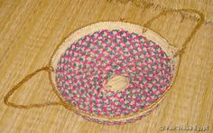 "Fair Trade Egypt - ""Chezleya"" Small Nubian Flat Basket"