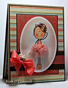 Paper Perfect Designs by Kim O'Connell - bubble gum pink tool and pink salmon vintage seam binding