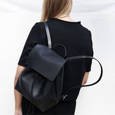 black backpack combi