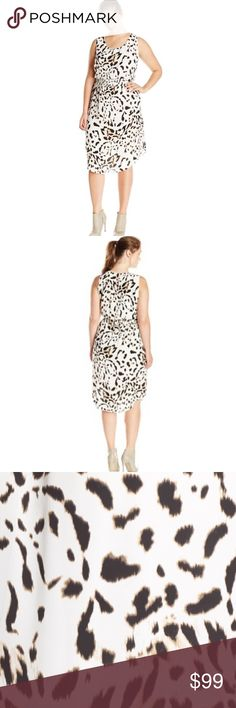 NWT Vince Camuto Dress Brand new, Spotted Lynx print smocked waist midi dress by Vince Camuto in antique white. Smocking at the waist blouses the sleeveless bodice creating easy comfort and a perfect fit for a lightweight stretch woven dress in a slim, straight cut. Animal pattern adds chic appeal and a vented shirttail hem lends breezy movement. Back keyhole with button-loop closure. Lined. 100% polyester. Machine washable. No trades. Vince Camuto Dresses Midi