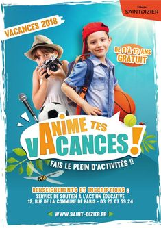 Anime Tes Vacances School Template, Graphic Design Brochure, Summer Camps For Kids, Affinity Photo, Affinity Designer, School Posters, Magazines For Kids, Kids Poster, Advertising Design