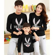 Find More Family Matching Outfits Information about 50% OFF Wholesale Family Clothes Winter Tops Long sleeve THE RABBIT T shirts Matching Mother Daughter Father Son Suits Pullovers,High Quality clothes dust,China pullover boy Suppliers, Cheap pullover cashmere from Fashion SuperDeal Co., Ltd on Aliexpress.com
