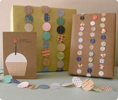 Older And Wisor: Way #15: Going Around In Circles - cute gift wrap ideas