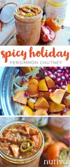 Spicy Holiday Persimmon Chutney kitchen.nutiva.com Gluten Free Dairy Free Recipes