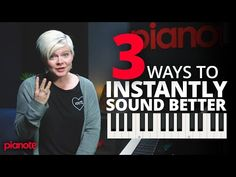 3 Ways To Instantly Sound Better On The Piano Piano Music With Letters, Piano Sheet Music, Violin, Guitar, Piano Lessons For Beginners, Best Piano, Piano Player, Piano Teaching, Sounds Good