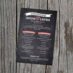 DIY Printable - Poster Size Wedding Program   Poster Sizes ...