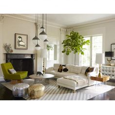 a cozy sectional + layered neutrals = instant warm modernism!