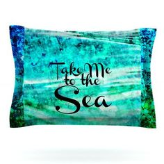 KESS InHouse Take Me to the Sea by Ebi Emporium Featherweight Pillow Sham Size: Queen, Fabric: Cotton