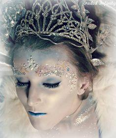 artistic makeup ideas | Winter queen (Makeup by Megan Tistle)