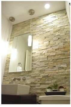 Would love to do a wall like this in the bathroom