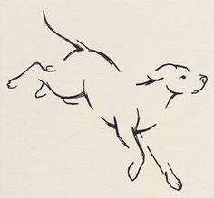 The Menagerie - Pouncing - Thread List Urban Threads, Dog Silhouette, Stencil Patterns, Dog Pattern, Disney Tattoos, Dog Tattoos, Trendy Tattoos, Crayon, Pyrography
