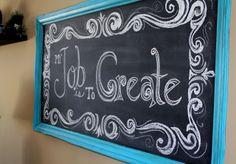 Through My Creative Mind: chalkboard