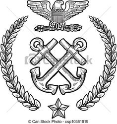 Vector - US Navy military insignia -