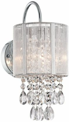 Magnificence Satin Nickel 10 Wide Crystal Wall Sconce Sconces Walls And Chandeliers