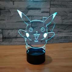 Pokemon GO Pikachu Smile LED 7 Color Changing Night Cute Lamp #Pokemon #PokemonGO #Pikachu #Smile #LED #7 #ColorChanging #Night #Cute #Lamp #konohastuff