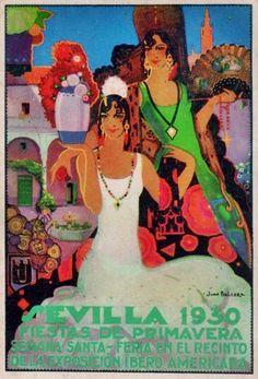 Postales Antiguas de Andalucía: Fiestas de Primavera 1930 (Sevilla)