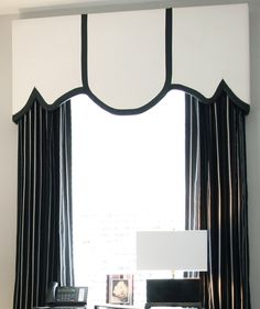 Really love this window treatment-This one was created by Megliola Beal Interior Design, Inc.