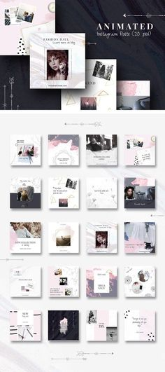Business infographic : Business infographic : ANIMATED Instagram Posts -Boho chic by CreativeFolks on C