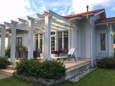 (2) Kannustalo Oy Modern Pergola, Deck With Pergola, Pergola Patio, Backyard Patio, Landscape Plans, Landscape Design, Outside Living, Outdoor Living, Aluminum Pergola