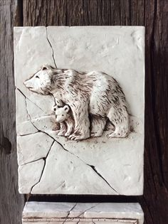 Muskoka Lakes, sculpted, cottage, bear and cub