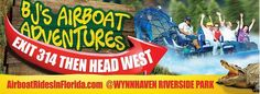 New signs to see on Airboat Rides, Riverside Park, New Sign, Florida, Signs, Shop Signs, Dishes
