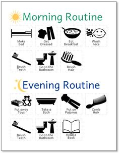 Printable Routine Chart for Kids (No Reading Required).
