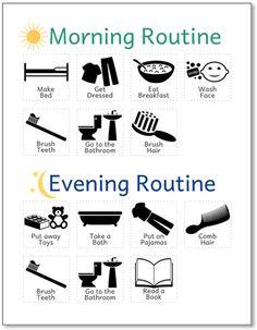 Free printable routine chart
