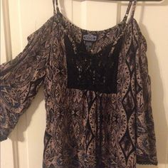 NWT off shoulder top  Brand new off shoulder top! Size small, but is baggy so it can fit bigger  make an offer! Tops