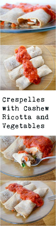 Crespelles, or Italian crepes, are delicious! This is our favorite filling.