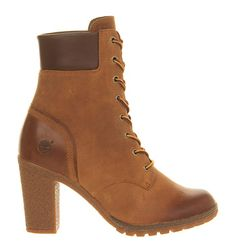 Timberland Glancy 6 Inch Heel Boot Wheat - Ankle Boots