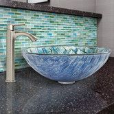 Found it at Wayfair - Oceania Glass Vessel Bathroom Sink and Linus Faucet Set