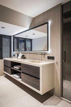 21 Bathroom Cabinet Ideas for A Minimalist Bathroom. Incredible Bathroom Cabine 21 Bathroom Cabinet Ideas for A Minimalist Bathroom. Bathroom Styling, Bathroom Interior Design, Modern Interior Design, Bathroom Lighting, Minimalist Bathroom Design, Restroom Design, Luxury Interior, Minimalist Design, Mid Century Bathroom