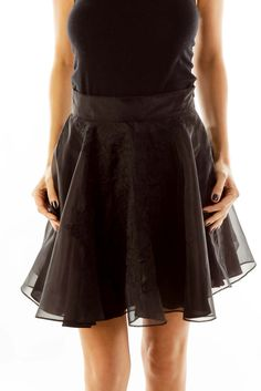8a825d617 Flirty skirts for a weekend party black embroidered skirt by Keepsake.  SilkRoll
