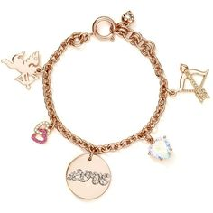Juicy Couture Valentine's Day Charm Bracelet ($78) ❤ liked on Polyvore