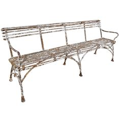 Arras Bench   From a unique collection of antique and modern garden furniture at http://www.1stdibs.com/furniture/building-garden/garden-furniture/
