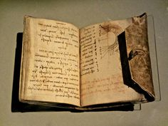 """once you have tasted the taste of sky, you will forever look up""  ― Leonardo da Vinci (his notebook in photo)"
