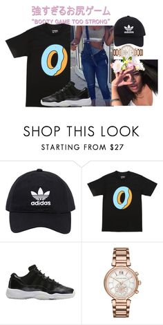 """""""Bloop"""" by trapsoulbre ❤ liked on Polyvore featuring adidas Originals, ODD FUTURE and Michael Kors"""