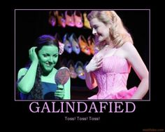 Dianne Pilkington as Glinda and Kerry Ellis as Elphaba. I would honestly love to be either! Wicked Musical, Musical Theatre Broadway, Broadway Shows, Wizard Of Oz Witch, Theatre Nerds, Theater, Defying Gravity, Demotivational Posters, Musicals