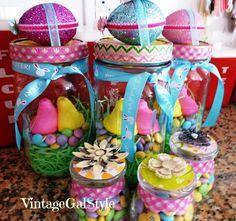 mason jar easter ideas | Vintage Gal Style: Easter Vintage Mason Jar Gifts