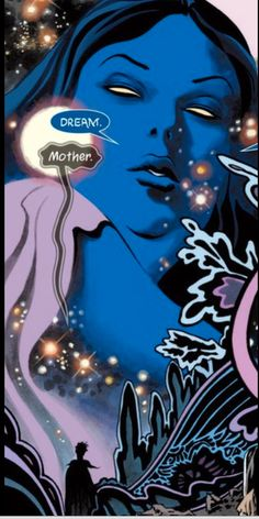 Dream visits his mother Space (aka night) The Sandman Overture