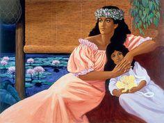 """On The Lanai by Herbert """"Herb"""" Kawainui Kāne (June 1928 – March Hawaiian Dancers, Hawaiian Art, Hawaiian Girls, Hawaii Hula, Hawaii Hawaii, Hula Dance, Polynesian Art, Vintage Hawaii, Music Images"""