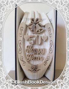 50 Happy Years Horseshoe - Golden Wedding Anniversary Book folding Pattern PDF by BlushBookDesign on Etsy https://www.etsy.com/uk/listing/470273775/50-happy-years-horseshoe-golden-wedding